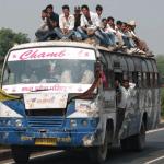 Busfahrten in Indien
