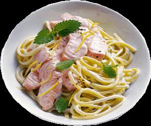 Leckeres Rezept für die nächste Party: Zitronenmelisse Soße mit Lachs