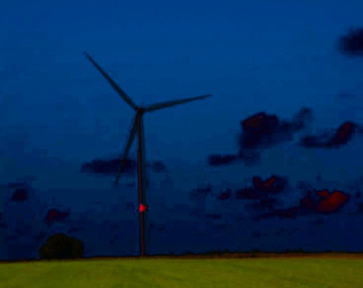 Windkraftwerke in Bayern