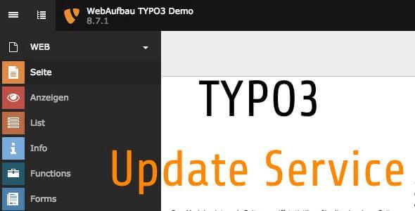 Typo3 Update Service und Wartung