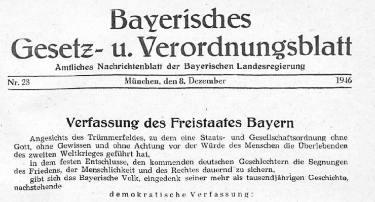 Zum 100. Geburtstag der Bayerischen Verfassung und dem Ende der Monarchie