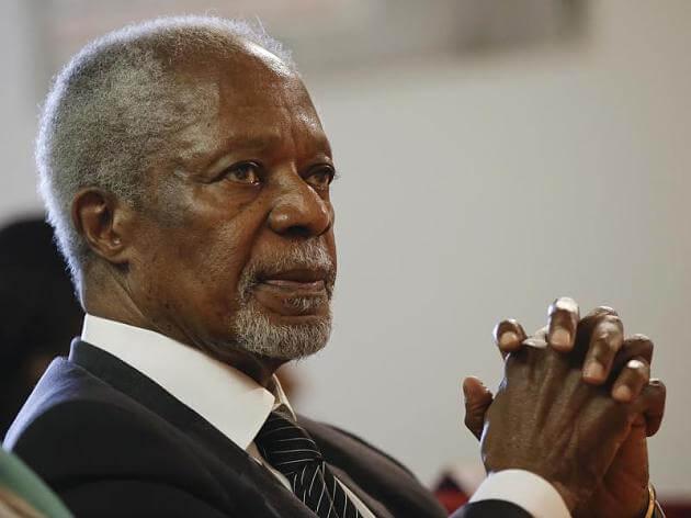 Kofi Annan, der frühere Generalsekretär der UN ist verstorben